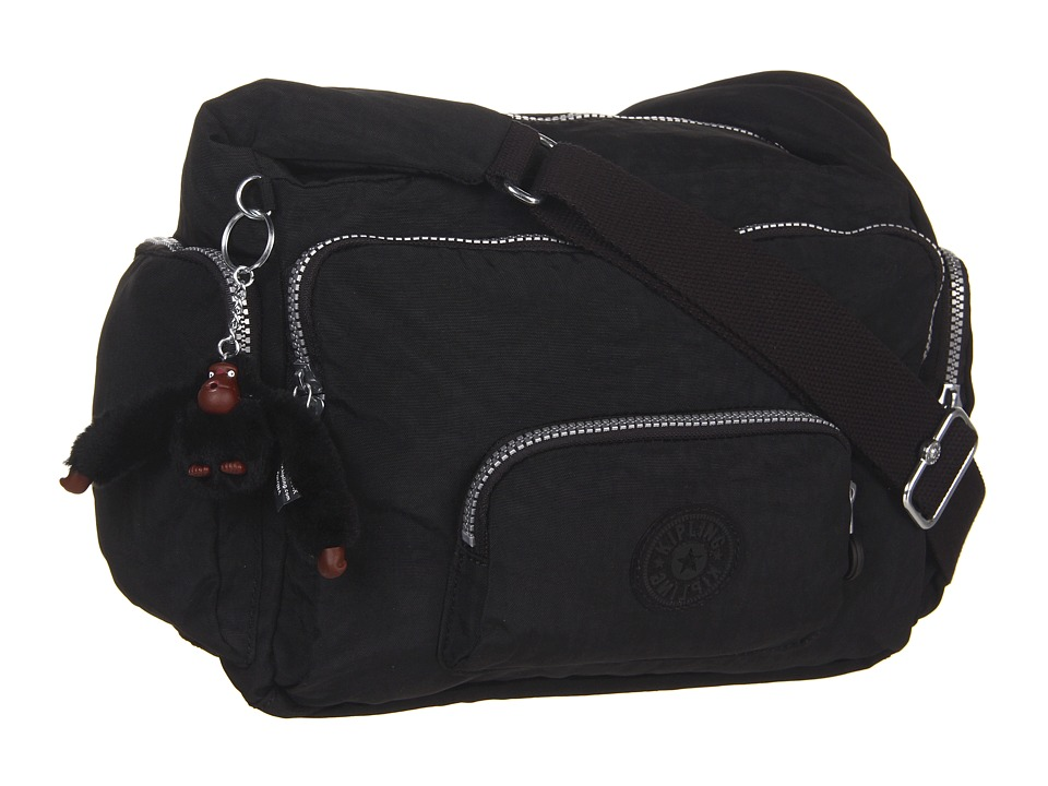 Kipling - Erica Cross Body Bag (Black) Cross Body Handbags