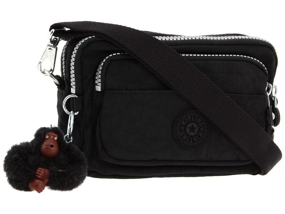 Kipling Multiple Belt Crossbody Bag (Black) Messenger Bags