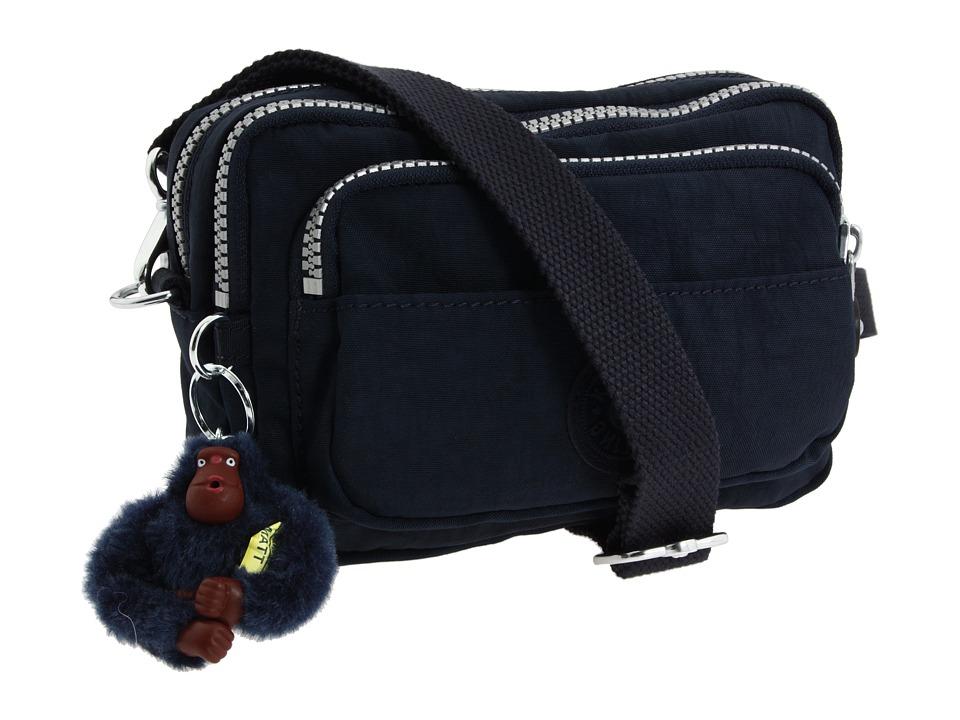 Kipling - Multiple Belt Crossbody Bag (True Blue) Messenger Bags