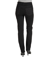 NYDJ - Sheri Skinny w/ Embellished Pocket in Black Overdye
