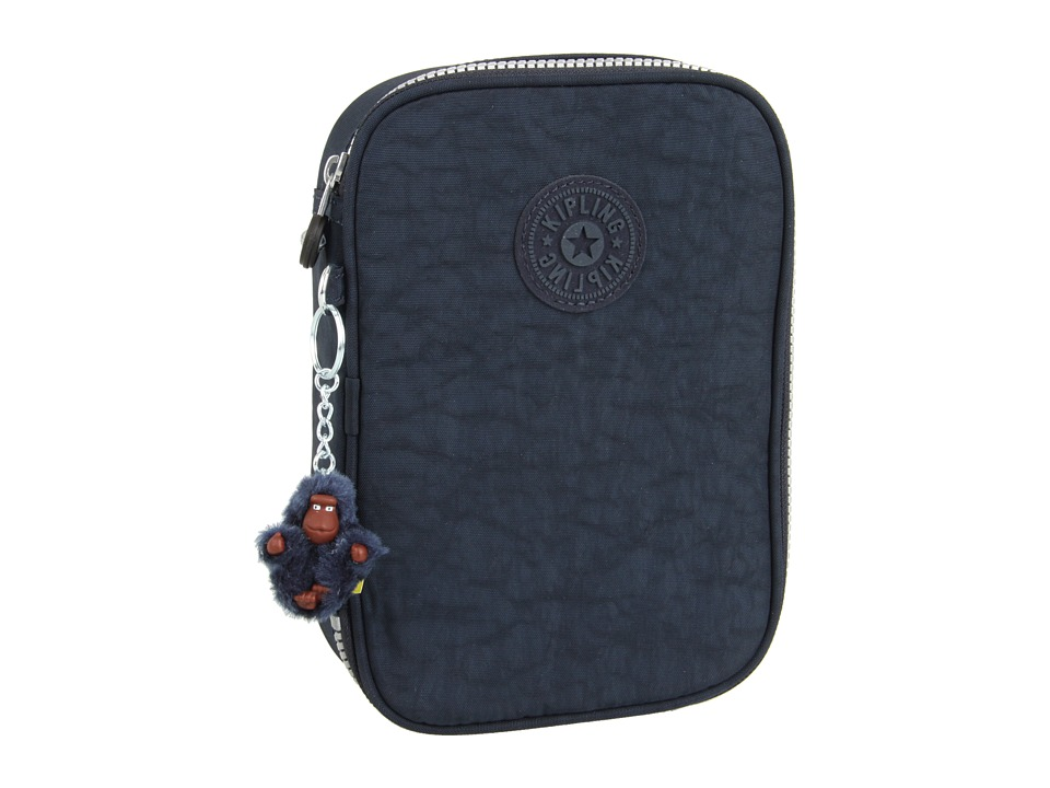 Kipling 100 Pens Case True Blue Travel Pouch