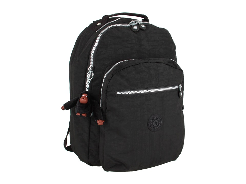 Kipling - Seoul Backpack with Laptop Protection (Black) Backpack Bags