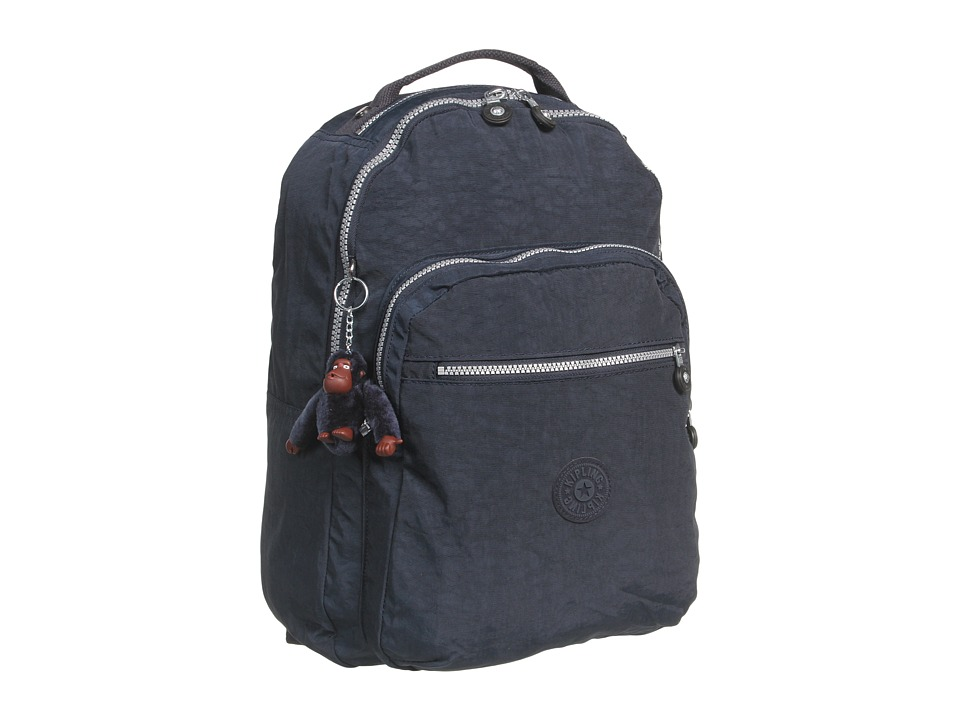 Kipling - Seoul Backpack with Laptop Protection (True Blue) Backpack Bags