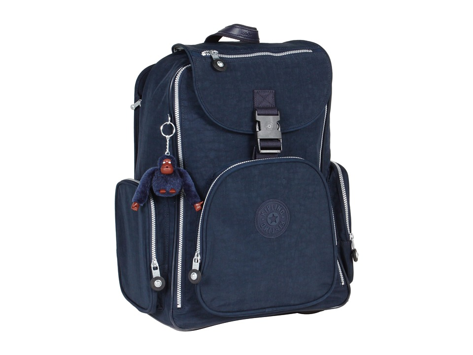Kipling - Alcatraz II Backpack With Laptop Protection (True Blue) Backpack Bags