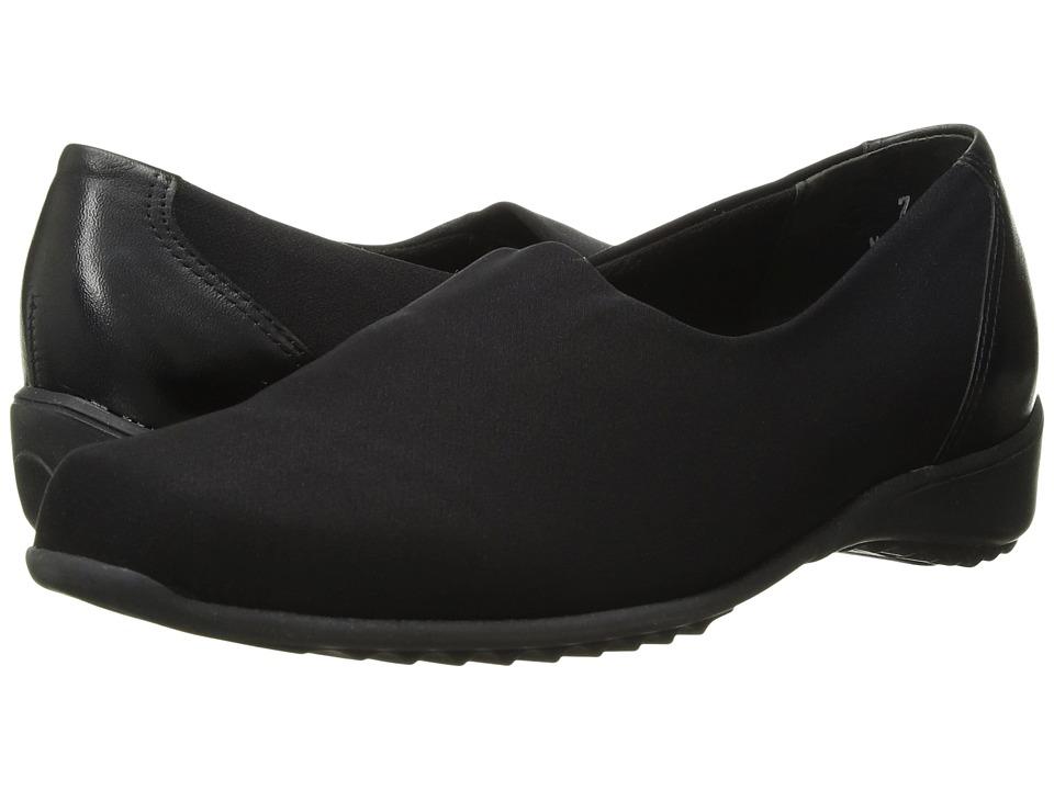 Munro American Traveler Black Stretch Fabric Womens Slip on Shoes