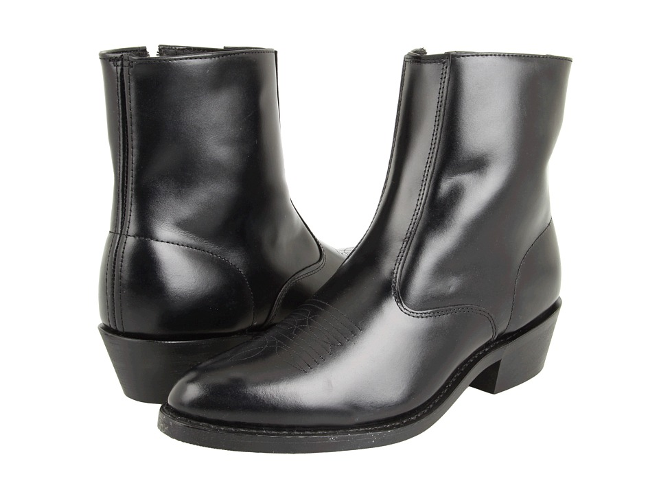 1960s Mens Shoes- Retro, Mod, Vintage Inspired Laredo - Long Haul Black Cowboy Boots $119.95 AT vintagedancer.com