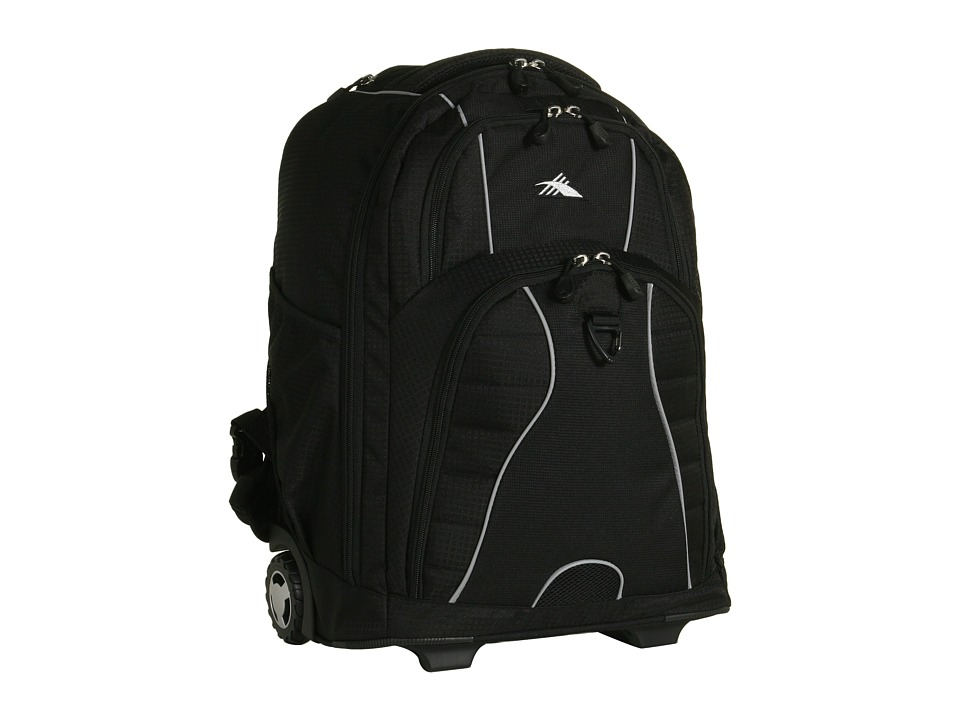 High Sierra - Freewheel Wheeled Backpack (Black) Backpack Bags