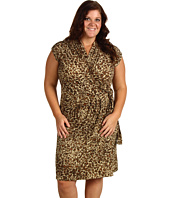 Anne Klein Plus - Plus Size Leopard Printed Wrap Dress