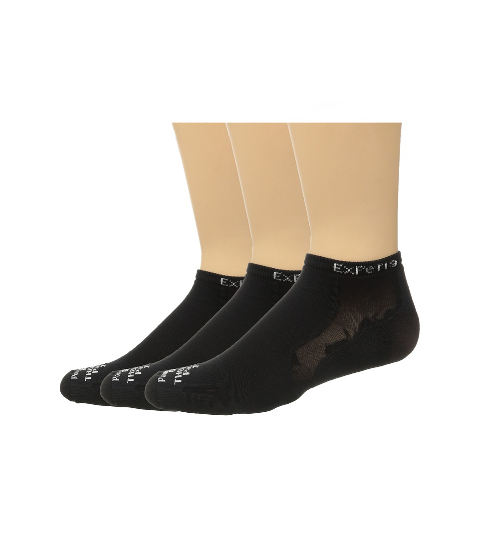 Thorlos Experia Micro Mini 3 pair Pack Solid Black Low Cut Socks Shoes