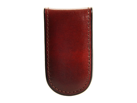 Bosca Old Leather Collection - Magnetic Money Clip - Cognac Leather