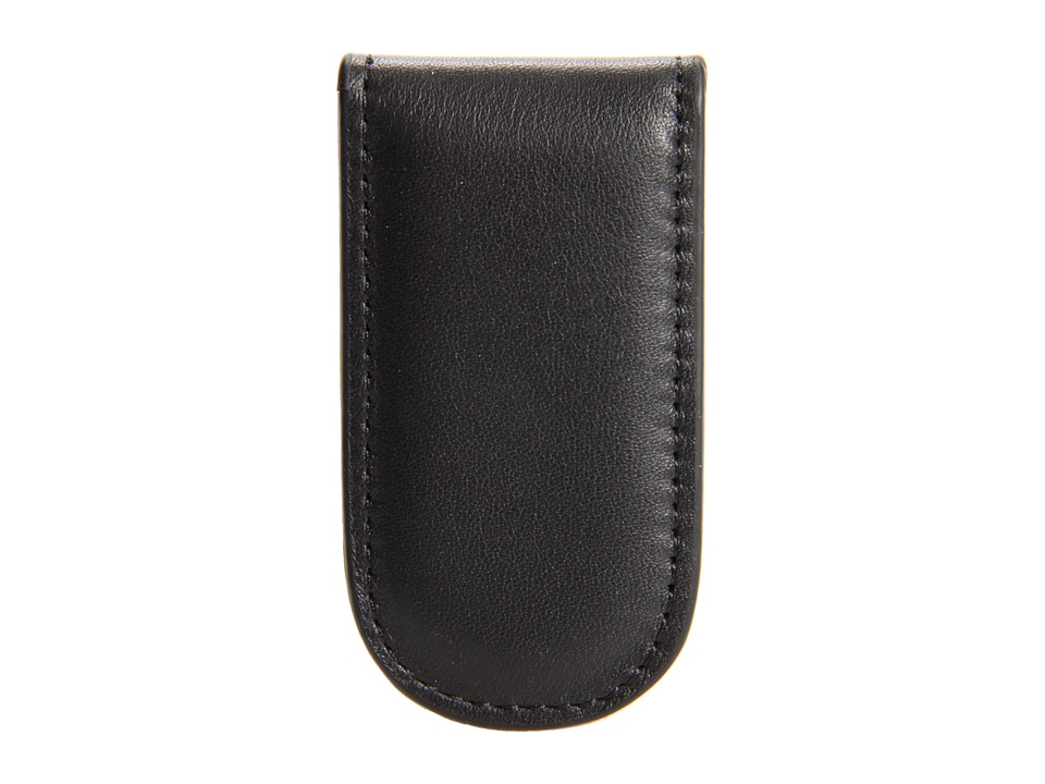Bosca - Nappa Vitello Collection - Magnetic Money Clip (Black Leather) Wallet