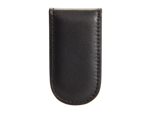 Bosca Nappa Vitello Collection - Magnetic Money Clip - Black Leather