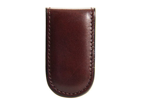 Bosca Old Leather Collection - Magnetic Money Clip - Dark Brown Leather