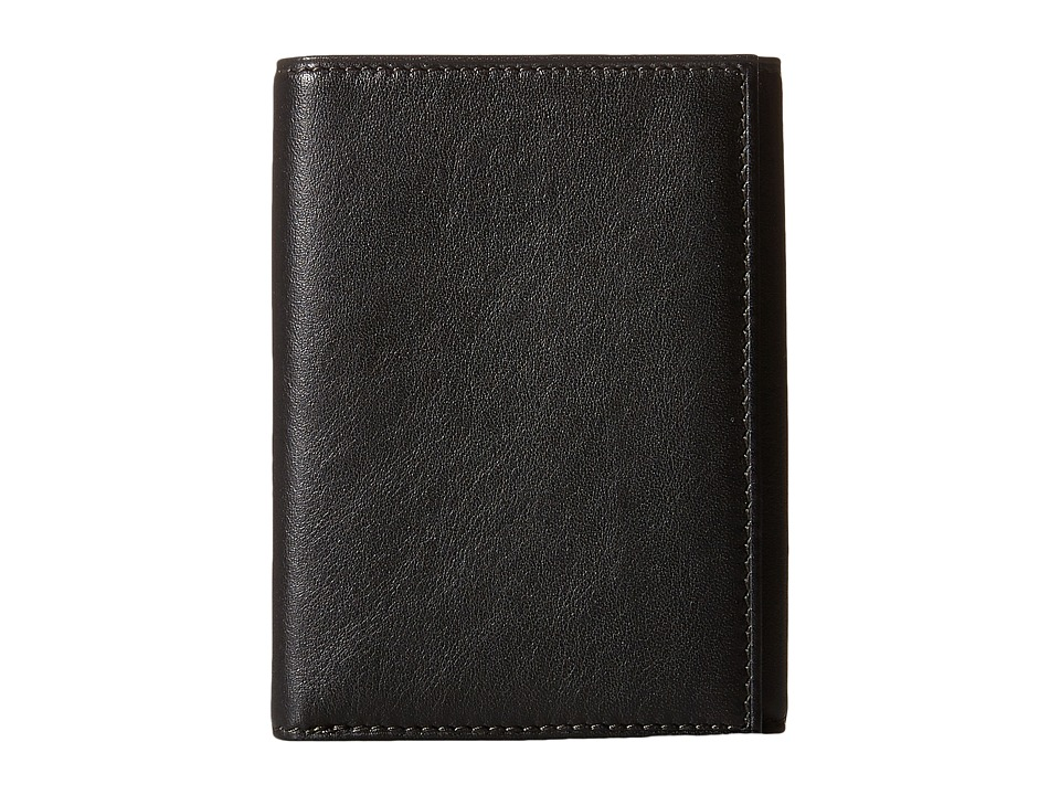 Bosca Nappa Vitello Collection - Trifold Wallet (Black Le...