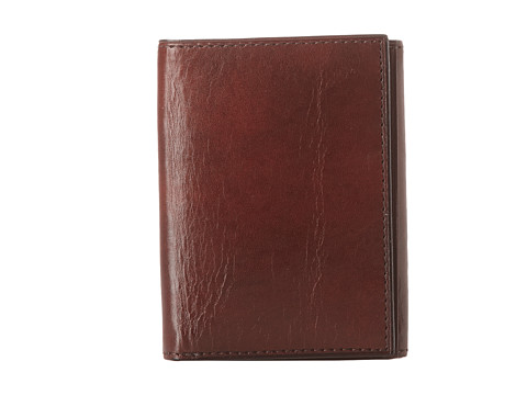 Bosca Old Leather Collection - Trifold Wallet - Dark Brown Leather