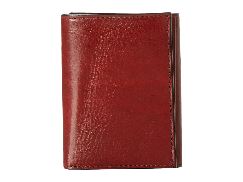 Bosca - Old Leather Collection - Trifold Wallet (Cognac Leather) Bill-fold Wallet