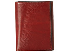 Bosca Old Leather Collection Trifold Wallet (Cognac Leather)
