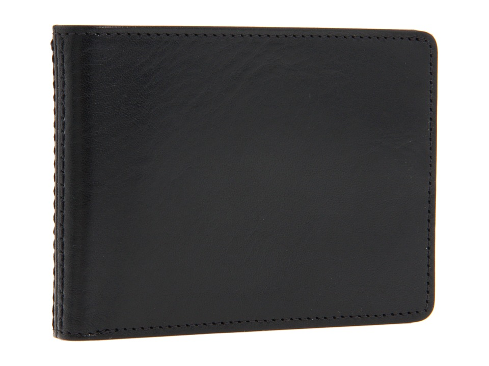 Bosca - Old Leather Collection - Small Bifold Wallet (Black Leather) Bi-fold Wallet
