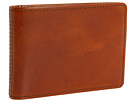 Bosca Old Leather New Fashioned Collection Small Bifold Wallet (Amber Leather)