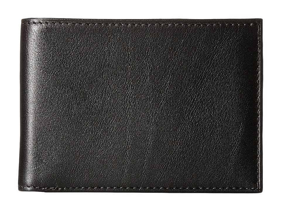 Bosca - Old Leather New Fashioned Collection - Small Bifold Wallet (Black Leather) Bi-fold Wallet