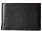 Bosca Old Leather New Fashioned Collection Small Bifold Wallet (Black Leather)