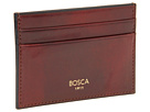 Bosca Old Leather Collection Front Pocket Wallet w/ Money Clip (Cognac Leather)