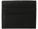 Bosca Nappa Vitello Collection Front Pocket Wallet w/ Magnetic Clip (Black Leather)