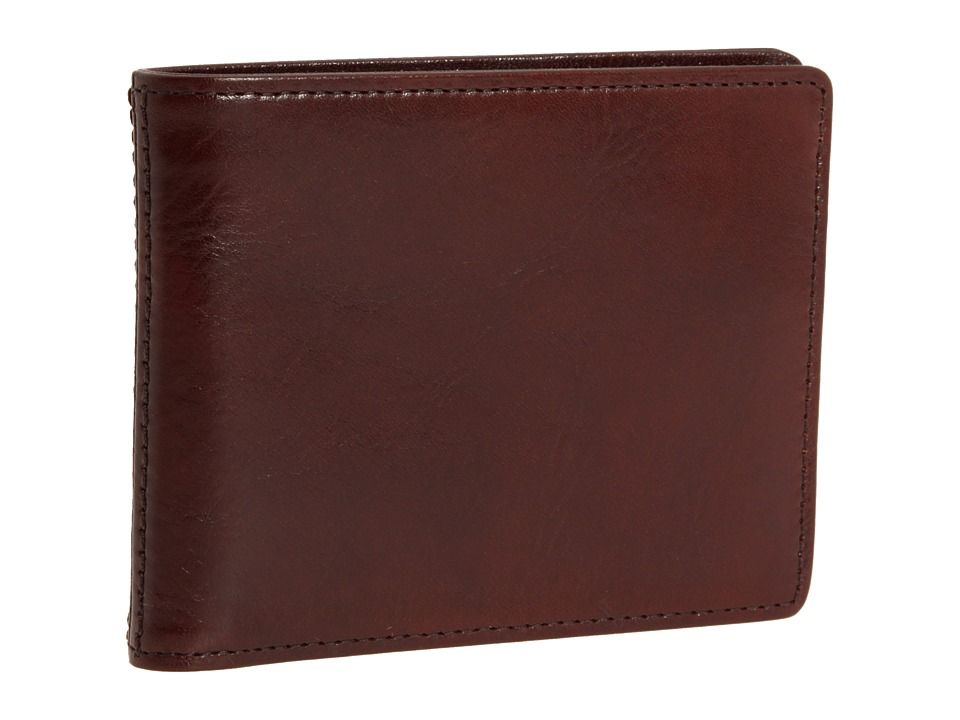 Bosca - Old Leather New Fashioned Collection - Executive ID Wallet (Dark Brown Leather) Bi-fold Wallet