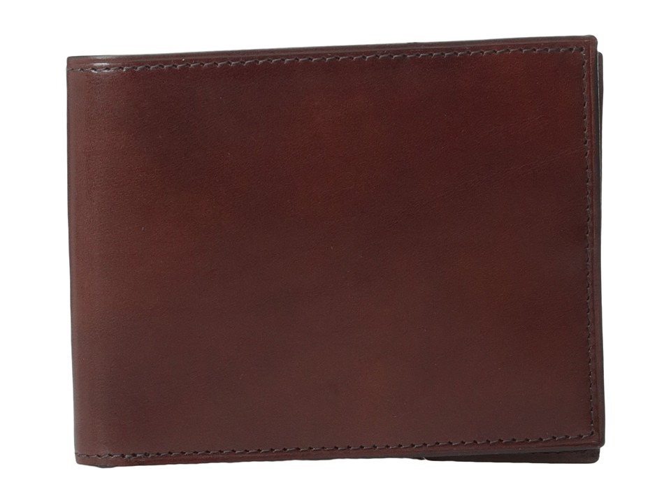 Bosca - Old Leather Collection - Executive ID Wallet (Dark Brown Leather) Bi-fold Wallet