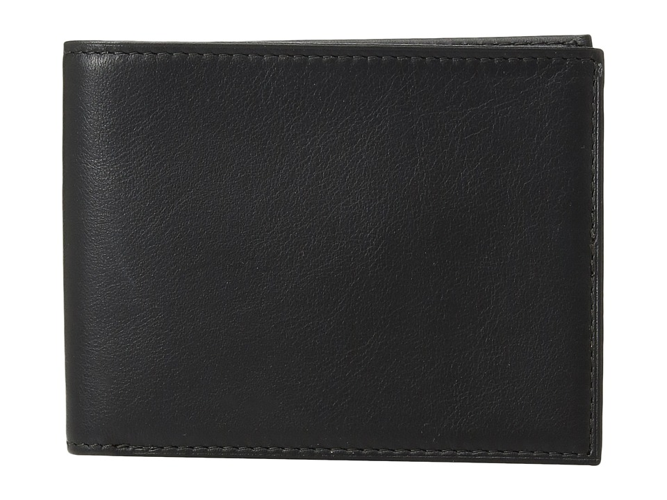 Bosca - Nappa Vitello Collection - Executive ID Wallet (Black Leather) Bi-fold Wallet