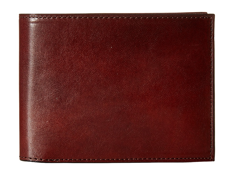 Bosca - Old Leather Collection - Continental ID Wallet (Dark Brown Leather) Bi-fold Wallet