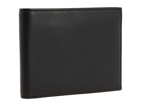 Bosca Nappa Vitello Collection - Continental ID Wallet - Black Leather