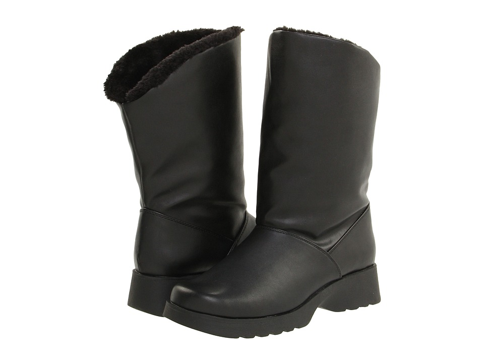 1950s Style Shoes Tundra Boots - Avery Black Womens Cold Weather Boots $60.00 AT vintagedancer.com