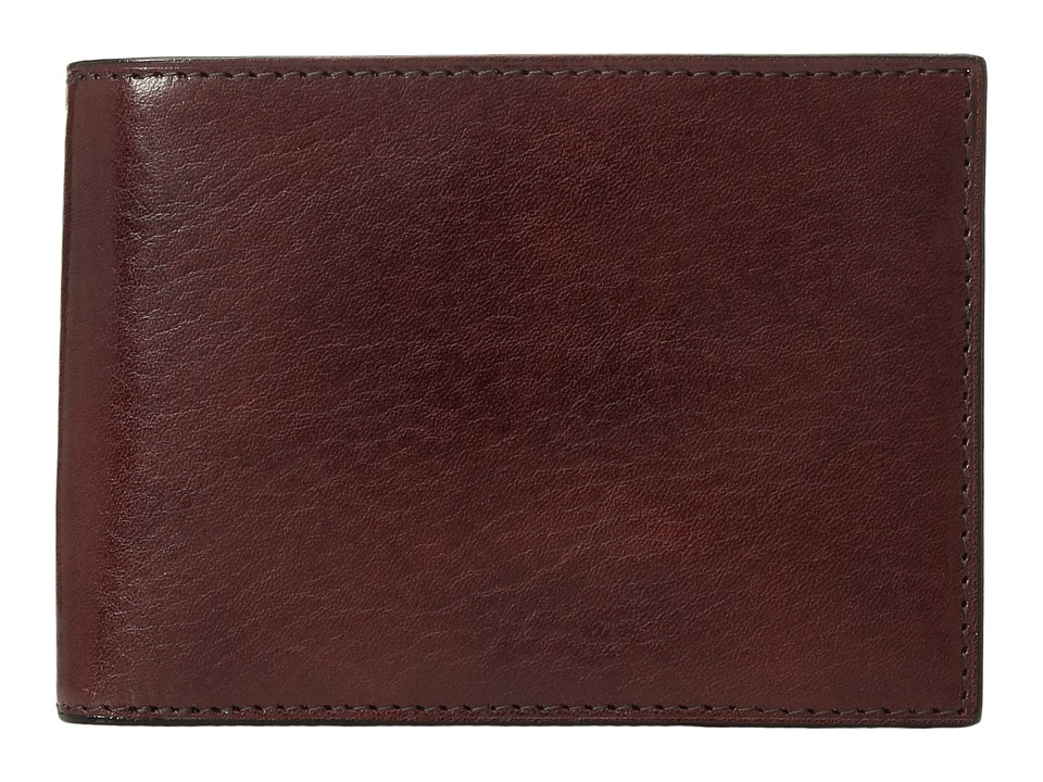 Bosca - Old Leather Collection - Credit Wallet w/ ID Passcase (Dark Brown Leather) Bi-fold Wallet