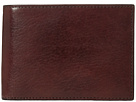 Bosca Old Leather Collection Credit Wallet w/ ID Passcase (Dark Brown Leather)