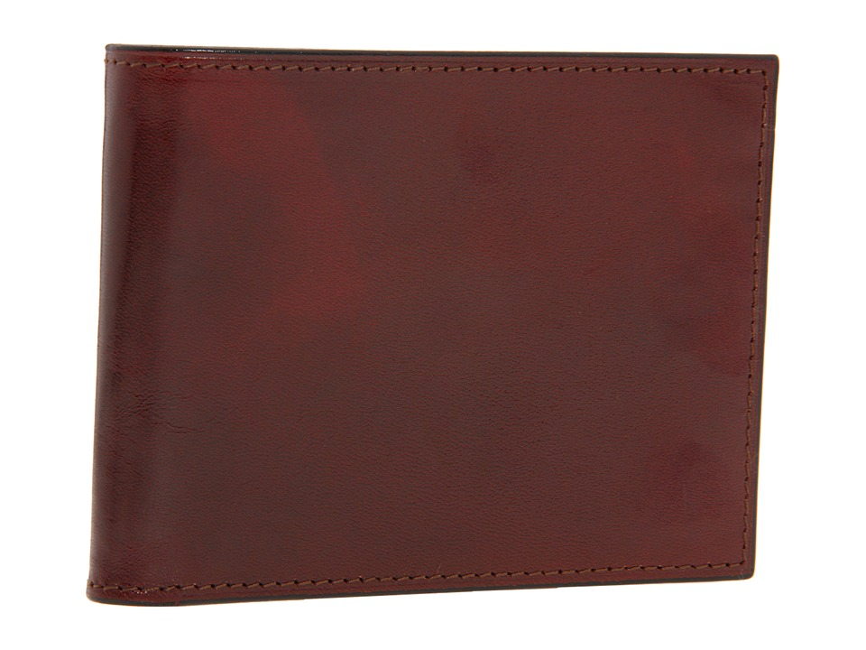 Bosca Old Leather Collection Double ID Credit Wallet Cognac Leather Bi fold Wallet