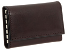 Bosca Old Leather Collection 6 Hook Key Case (Dark Brown Leather)