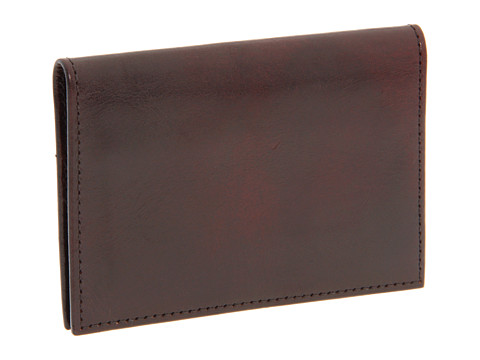 Bosca Old Leather Collection - Calling Card Case - Dark Brown Leather
