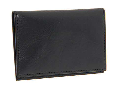 Bosca Old Leather Collection - Calling Card Case - Black Leather
