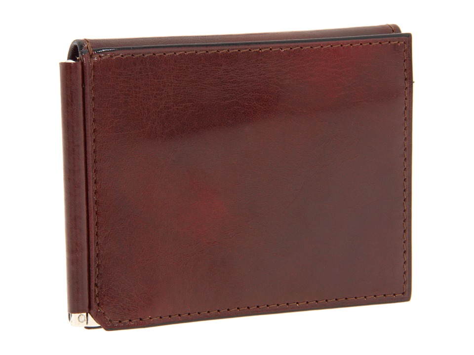 Bosca - Old Leather Collection - Money Clip w/ Pocket (Cognac Leather) Wallet