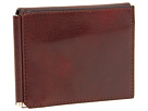 Bosca Old Leather Collection Money Clip w/ Pocket (Cognac Leather)