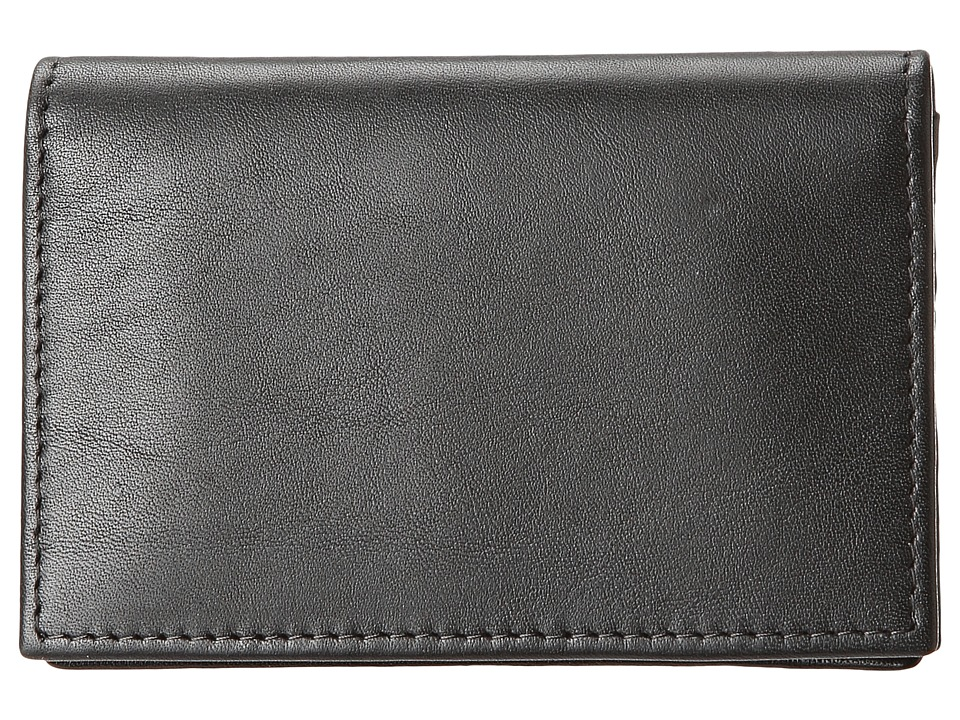 Bosca - Nappa Vitello Collection - Gusseted Card Case (Black Leather) Wallet