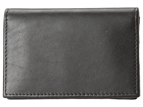 Bosca Nappa Vitello Collection - Gusseted Card Case - Black Leather