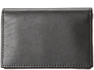 Bosca Nappa Vitello Collection Gusseted Card Case (Black Leather)