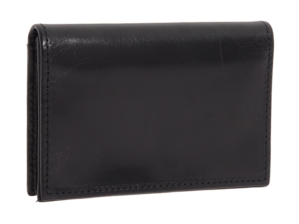 Bosca - Old Leather Collection - Gusseted Card Case (Black Leather) Wallet