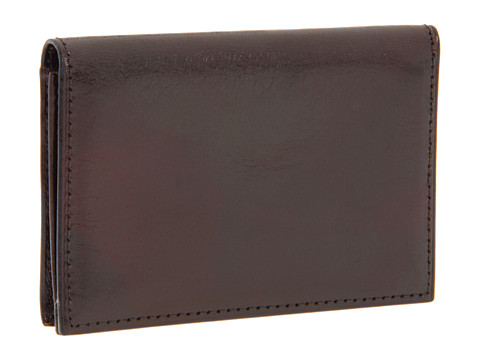 Bosca Old Leather Collection - Gusseted Card Case - Dark Brown Leather