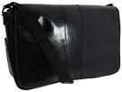 Bosca Old Leather Collection Messenger Bag (Black Leather)