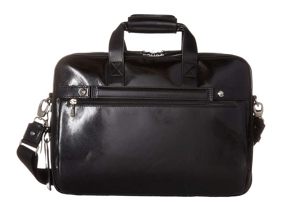 Bosca - Old Leather Collection - Stringer Bag (Black Leather) Briefcase Bags