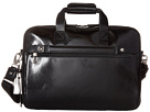 Bosca Old Leather Collection Stringer Bag (Black Leather)