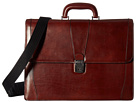Bosca Old Leather Collection Double Gusset Briefcase (Dark Brown Leather)